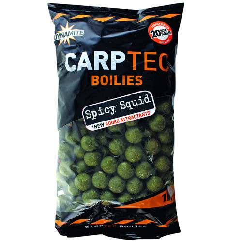 1kg Dynamite Baits CarpTec Boilies - Spicy Squid