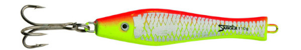 Aquantic 3D Holo Pilker 200g - Red / Yellow